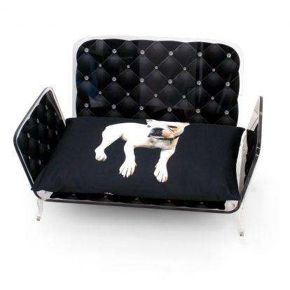 Pet Bed Capiton Noir